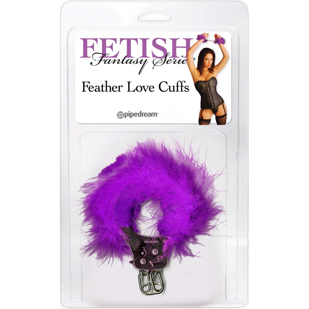 Pipedream Fetish Fantasy Series Feather Love Cuffs Purple - View #1