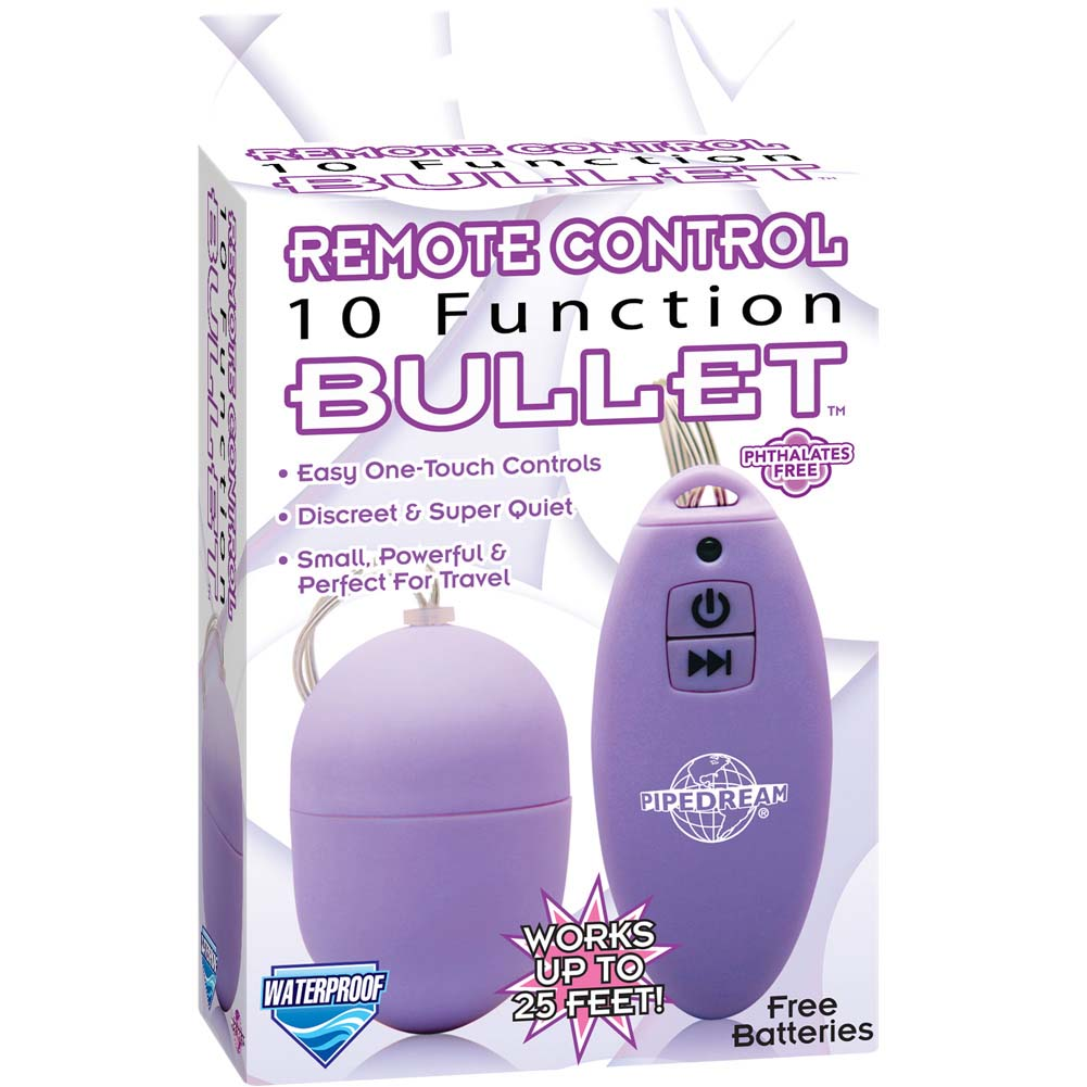 "Pipedream Remote Waterproof 10 Function Bullet 1.75"" Purple - View #1"