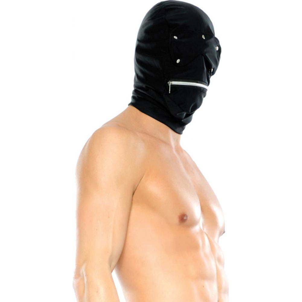 Pipedream Fetish Fantasy Series Zipper Head Hood One Size Black - View #4