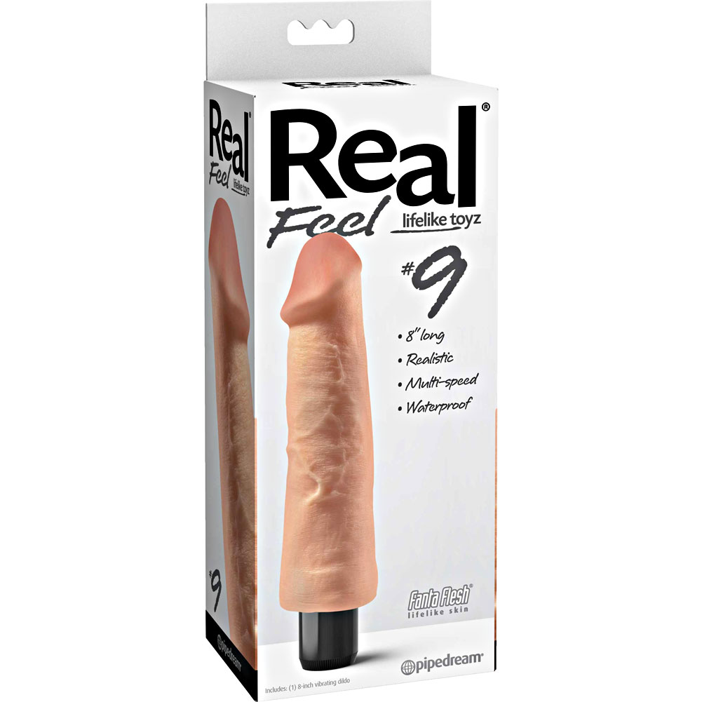 "Pipedream Real Feel No. 9 Long 9"" Waterproof Vibe Flesh Multi Speed - View #1"