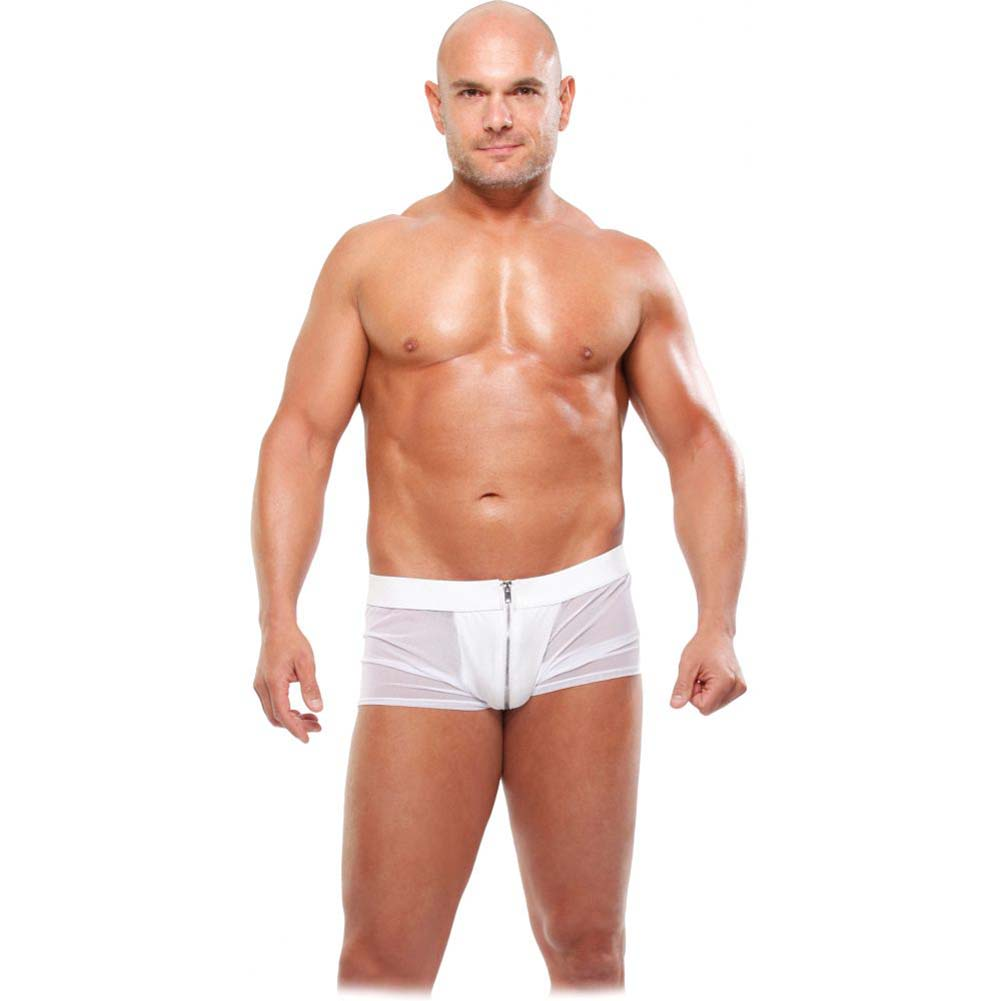 Pipedream Fetish Fantasy Lingerie White Hot Boxer Briefs L/XL White - View #1