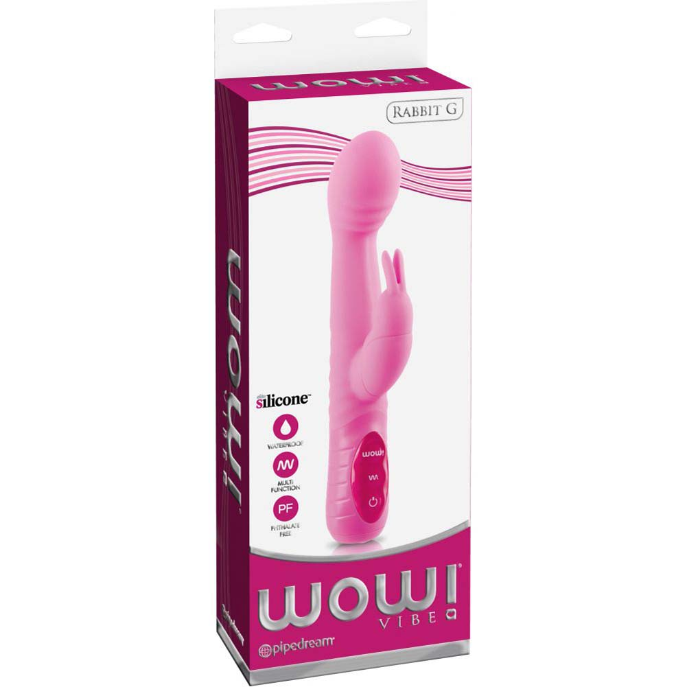 "WOW Rabbit G Personal Female Vibrator 9"" Soft Pink - View #1"