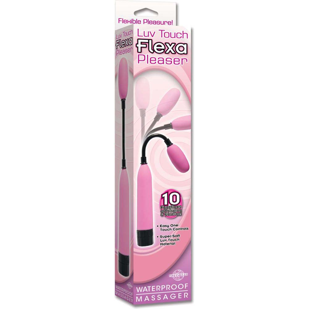 Luv Touch Flexa Pleaser Waterproof Massager - Pink - View #4