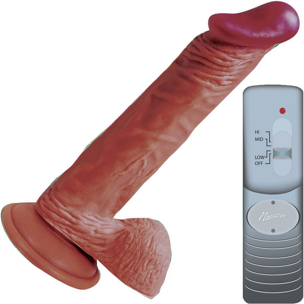 "Nasstoys Lifelikes Vibrating Latin Knight Cock with Suction Cup 8.5"" Beige - View #2"