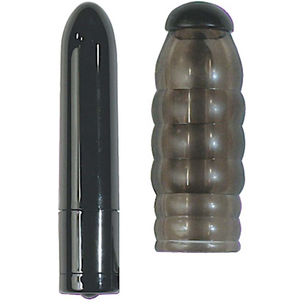 "Nasstoys 3 Speed Bullet With Orgasmic Stimulator Swirl 3"" Black - View #2"
