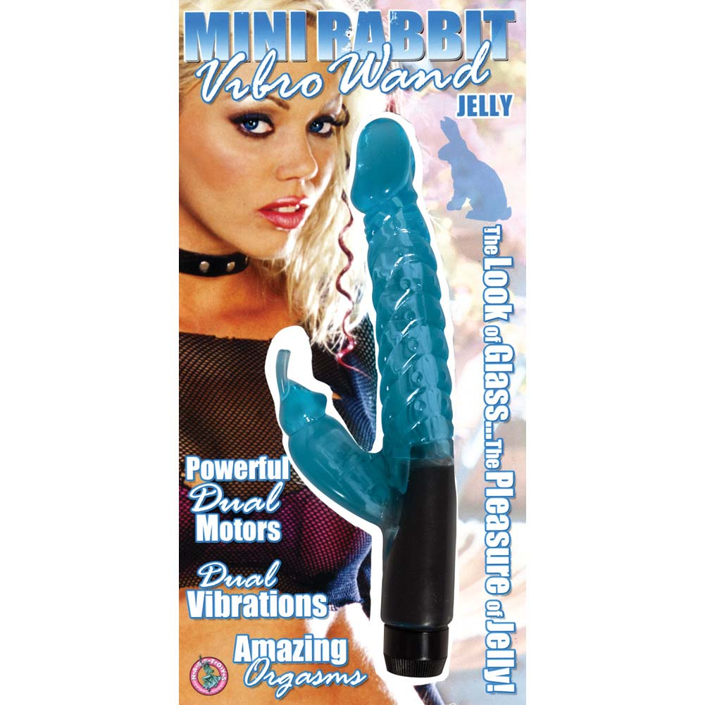 "Nasstoys Jelly Mini Rabbit Vibro Wand 3"" Blue - View #1"