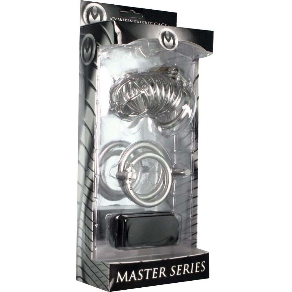 Master Series Bastille Penile Confinement Cage Stainless Steel - View #1