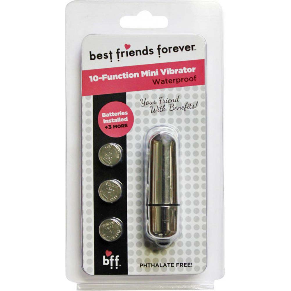 "SI Novelties BFF Friends with Benefits Waterproof Bullet Vibrator 2.4"" Silver - View #1"