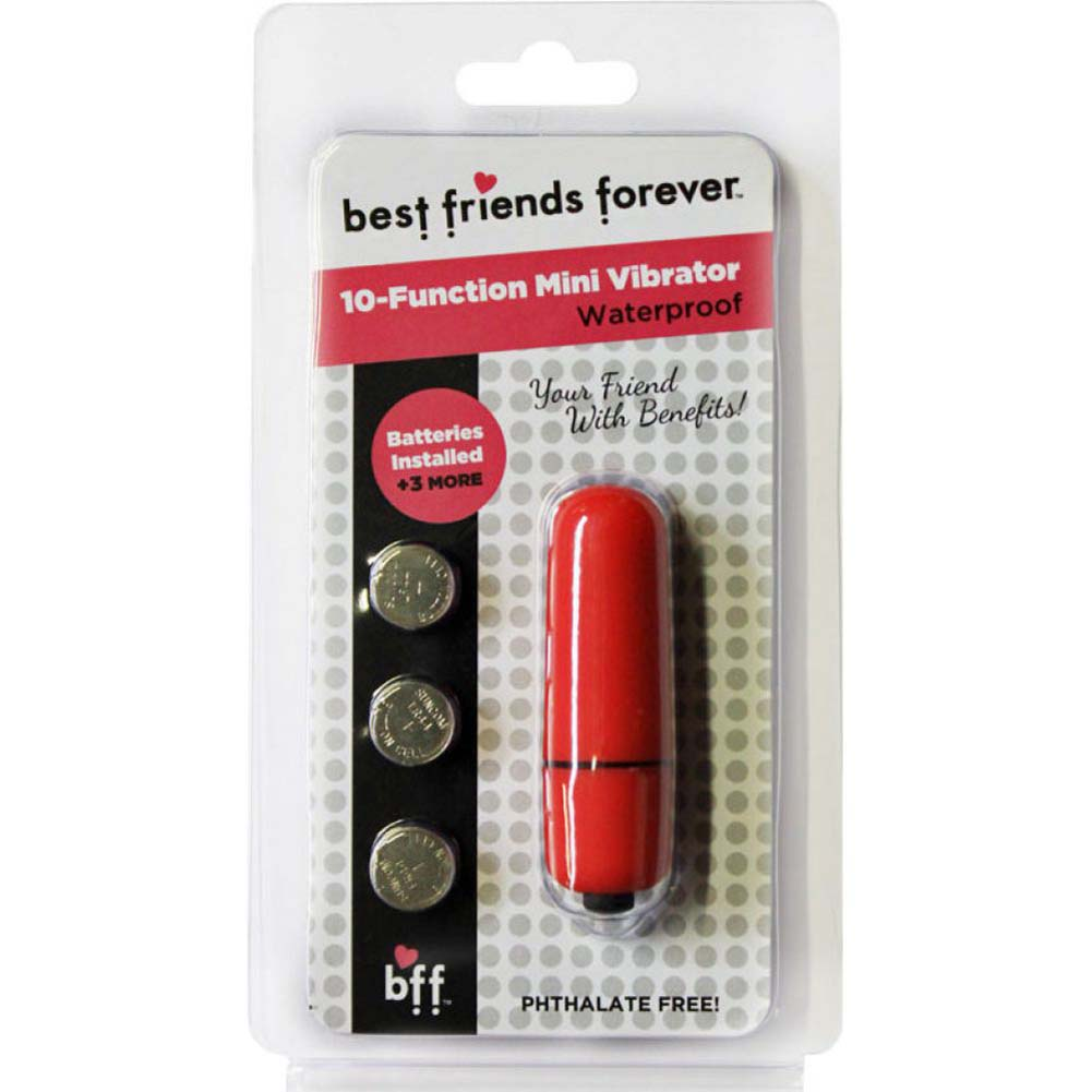 "SI Novelties BFF Friends with Benefits Waterproof Bullet Vibrator 2.4"" Red - View #1"