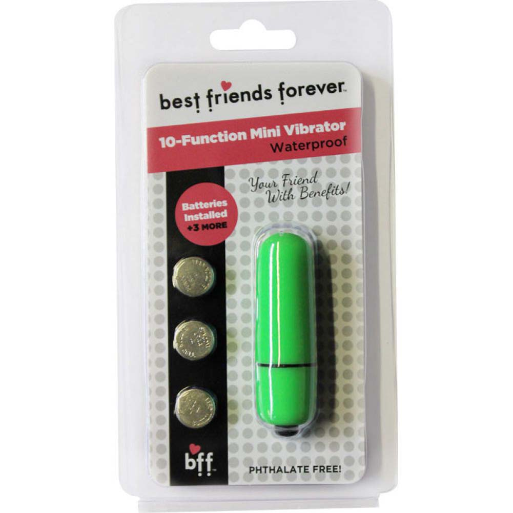 "SI Novelties BFF Friends with Benefits Waterproof Bullet Vibrator 2.4"" Green - View #1"