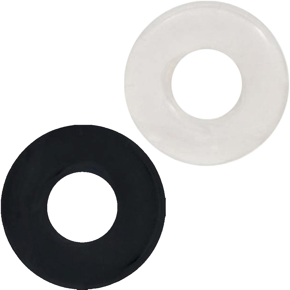 SI Novelties Ignite Thick Power Stretch Donut Cock Rings Pack of 2 Erection Rings Black/Clear - View #2