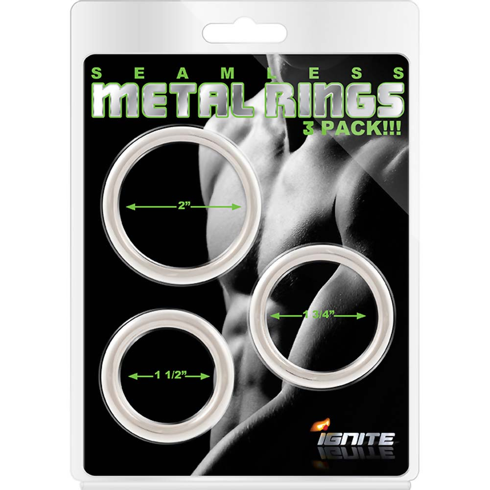 SI Novelties Seamless Metal Ring 3 Pack - View #1