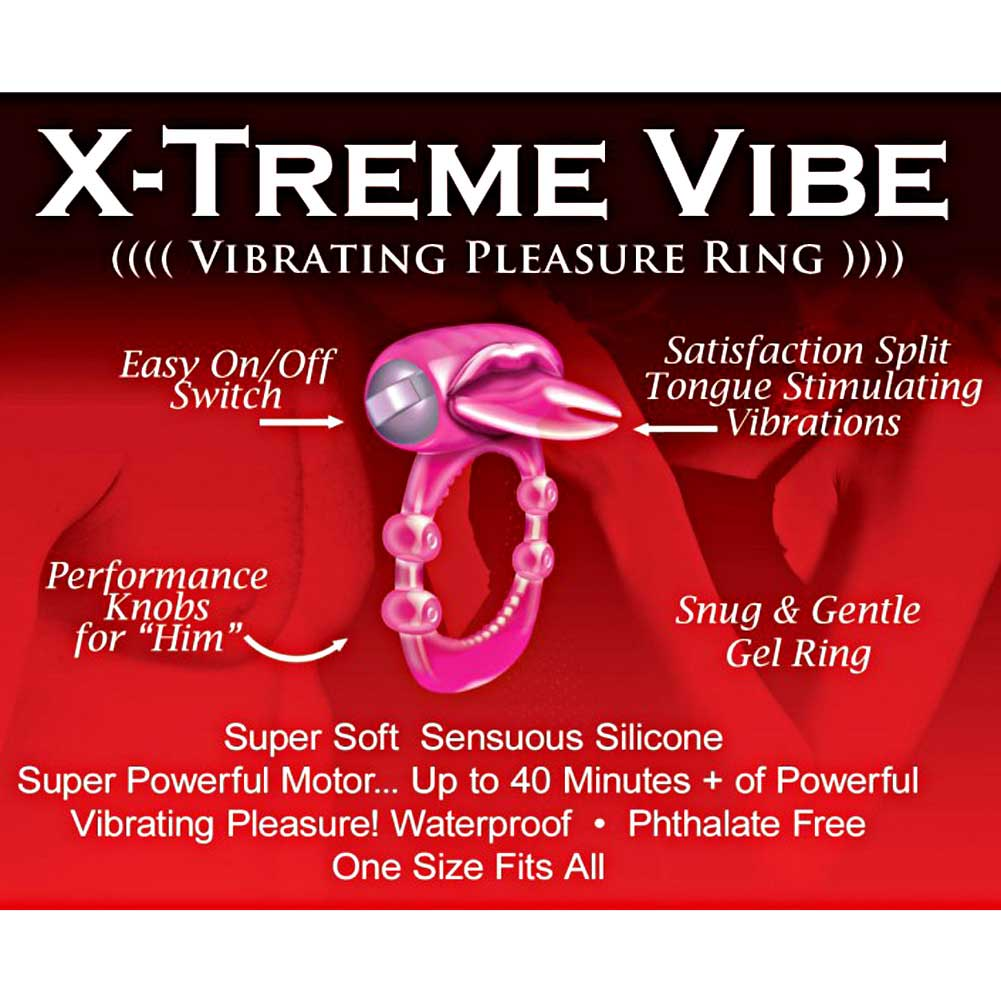 Hottproducts X-Treme Vibe Forked Tongue Pleasure Ring One Size Magenta - View #1