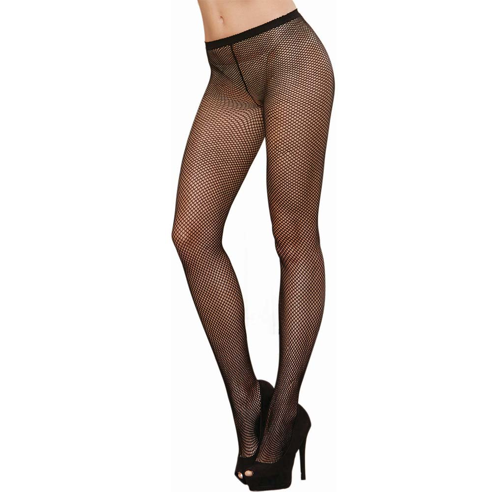Dreamgirl Fence Net Barcalona Pantyhose One Size Black - View #2