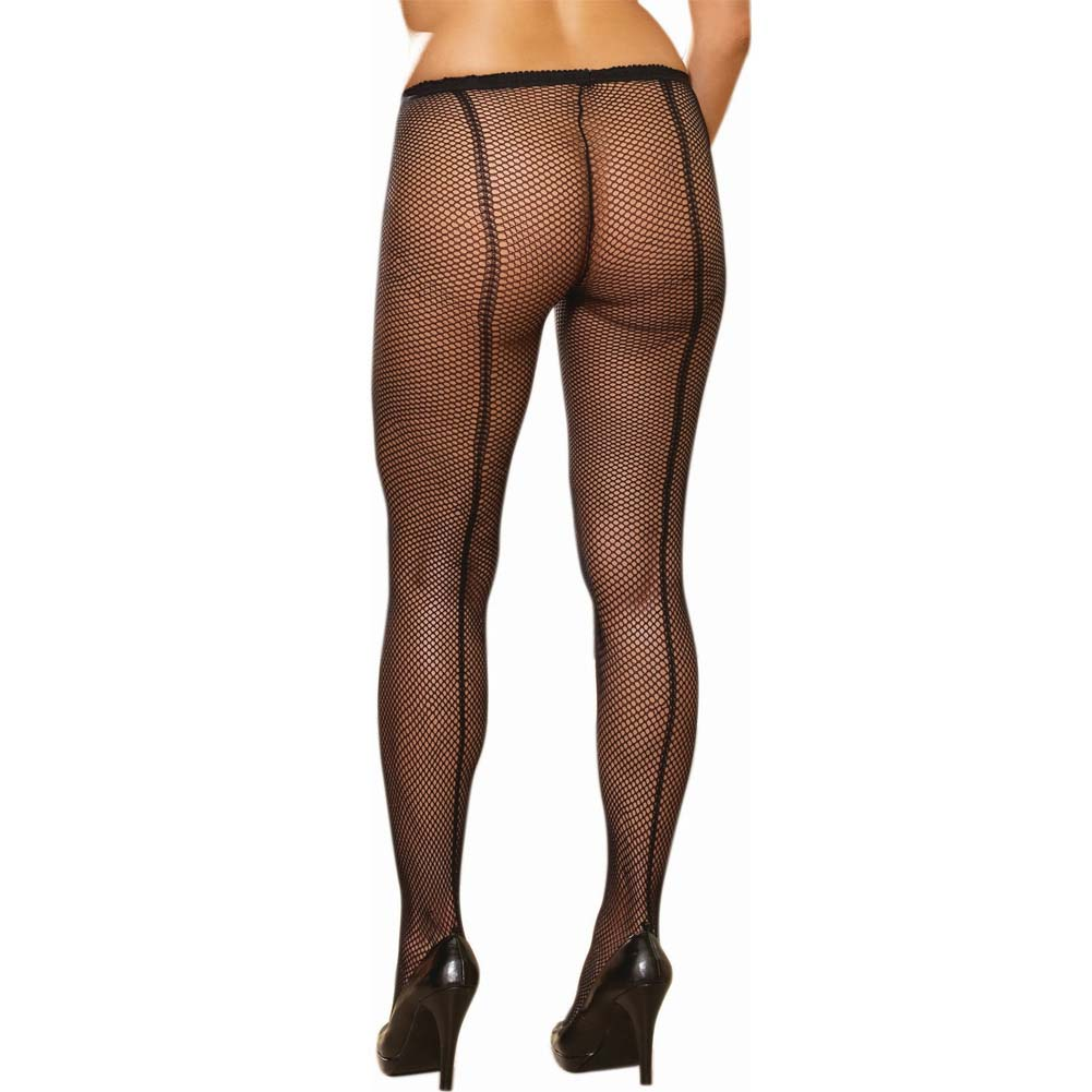 Dreamgirl Fence Net Barcelona Pantyhose Queen Size Black - View #1