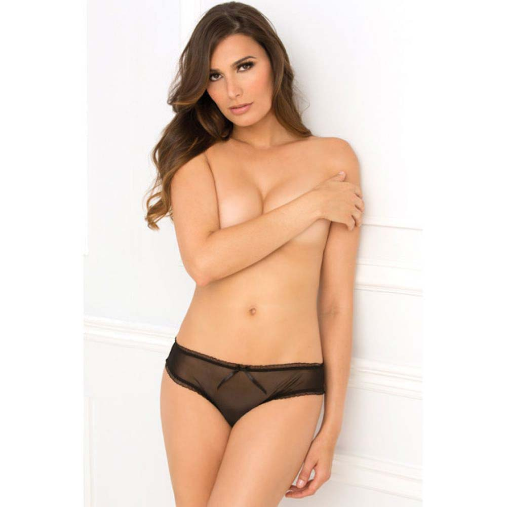 Rene Rofe Layer Cake Ruffle Back Crotchless Panty Medium/Large Black - View #4