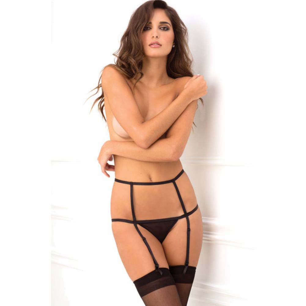 Rene Rofe WomanS Wide Open Cage Garter Medium/Large Black - View #3
