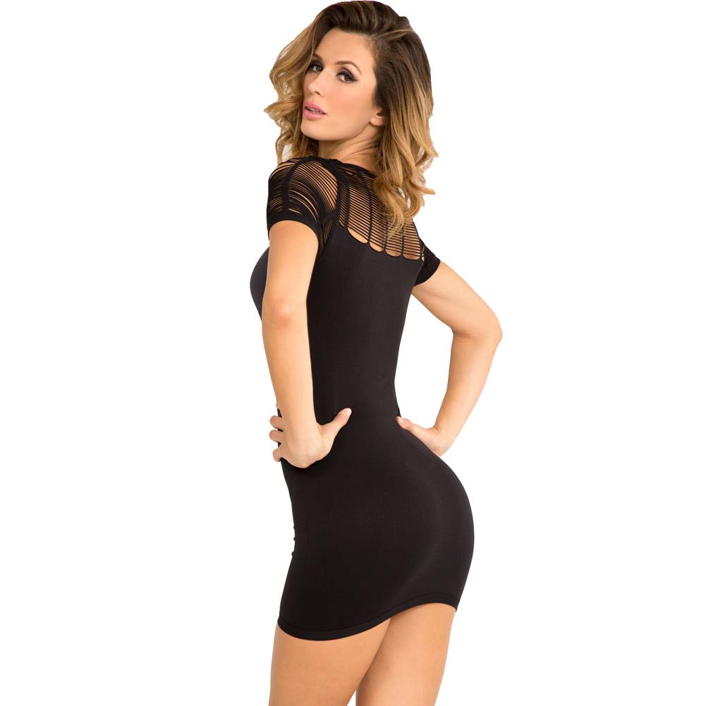 Rene Rofe Sexy Sophisticated Seamless Dress Small/Medium Black - View #2