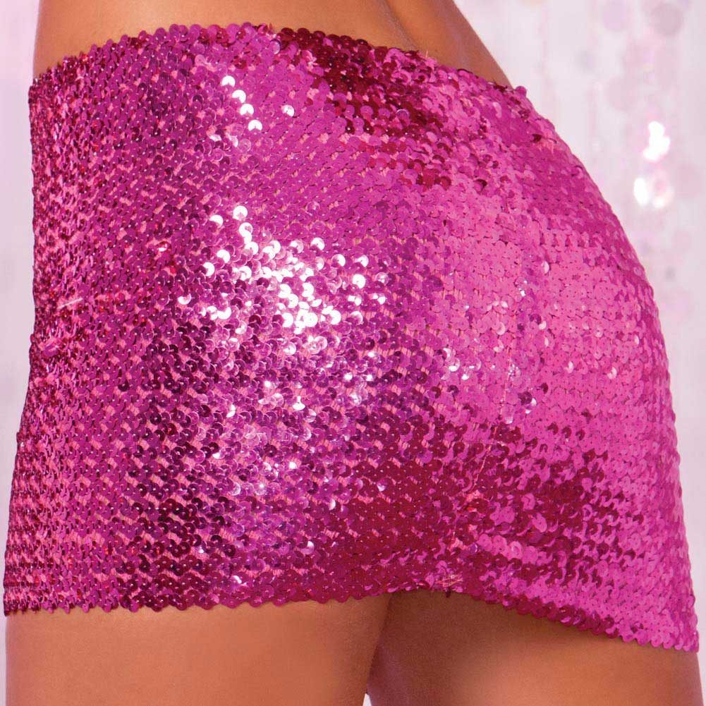 Pink Lipstick Sequin Tube Top or Tube Skirt Small/Medium Pink - View #4