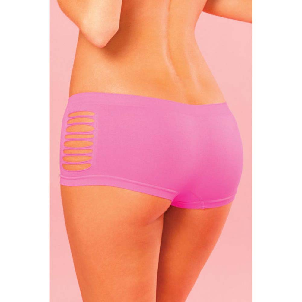 Pink Lipstick Sweat Pure Performance Side Slash Hot Shorts Medium/Large Pink - View #4