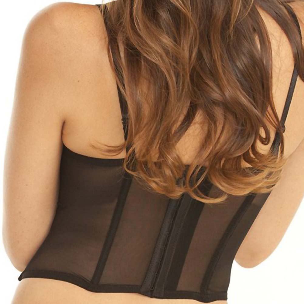 Rene Rofe Signature Nude Ambition Midriff-Baring Bustier and G-String Small Black - View #4