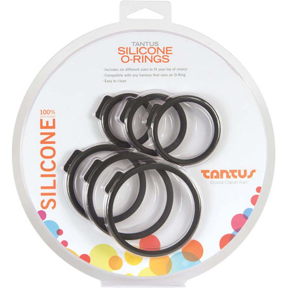Tantus Silicone O-Rings Set Pack of 6 Black - View #1