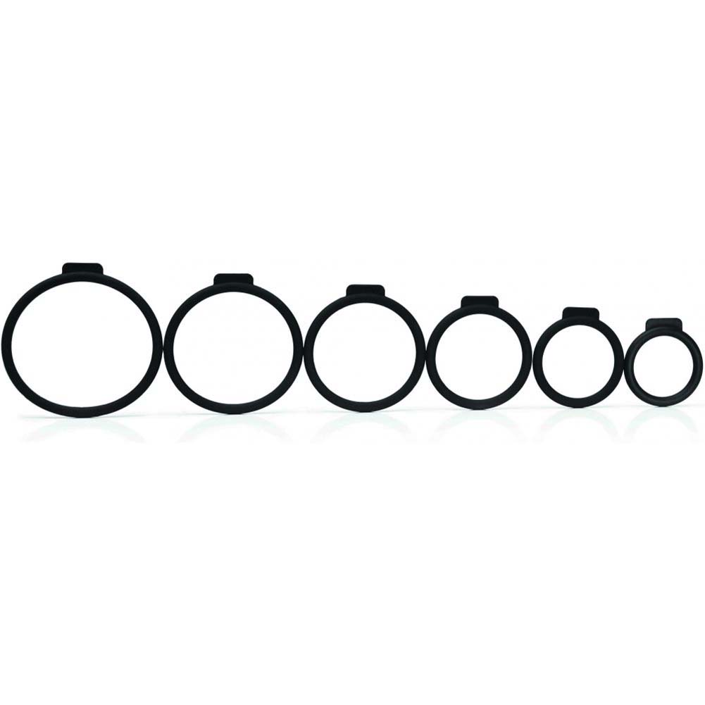 Tantus Silicone O-Rings Set Pack of 6 Black - View #3