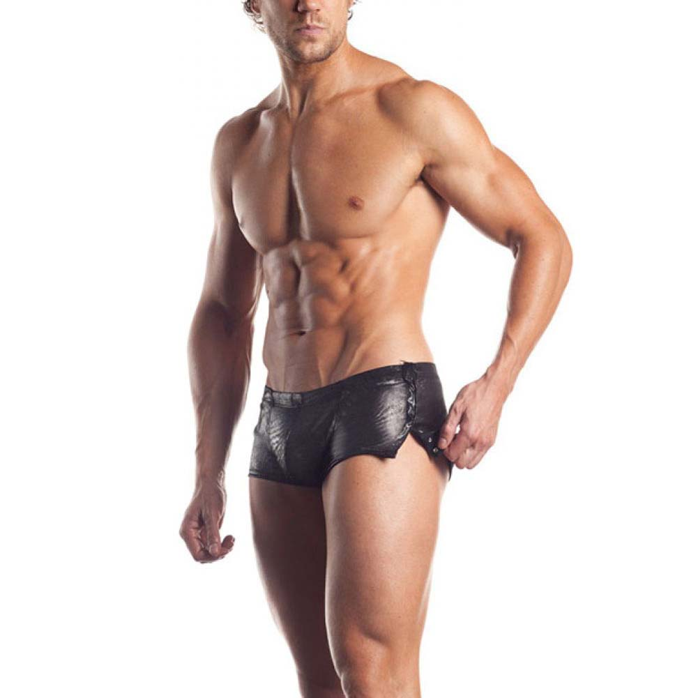 Fantasy Lingerie Excite Extreme Series Sleek Shorts with Snap Detail One Size Gunmetal - View #1
