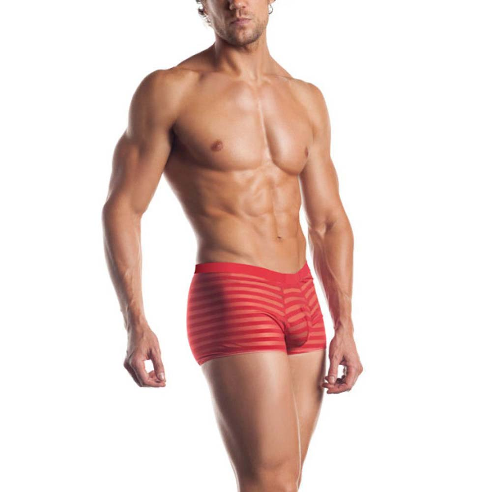Joy Hollywood Excite Extreme Series Striped Mesh Boxer One Size Red - View #1
