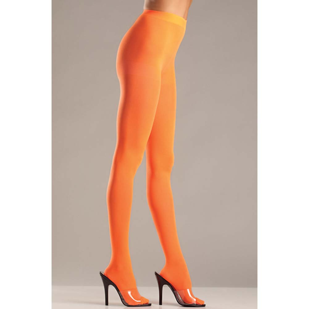 Opaque Nylon Pantyhose Orange QN - View #2
