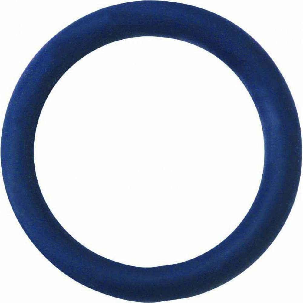 "Spartacus Soft Rubber Cockring 1.25"" Blue - View #2"