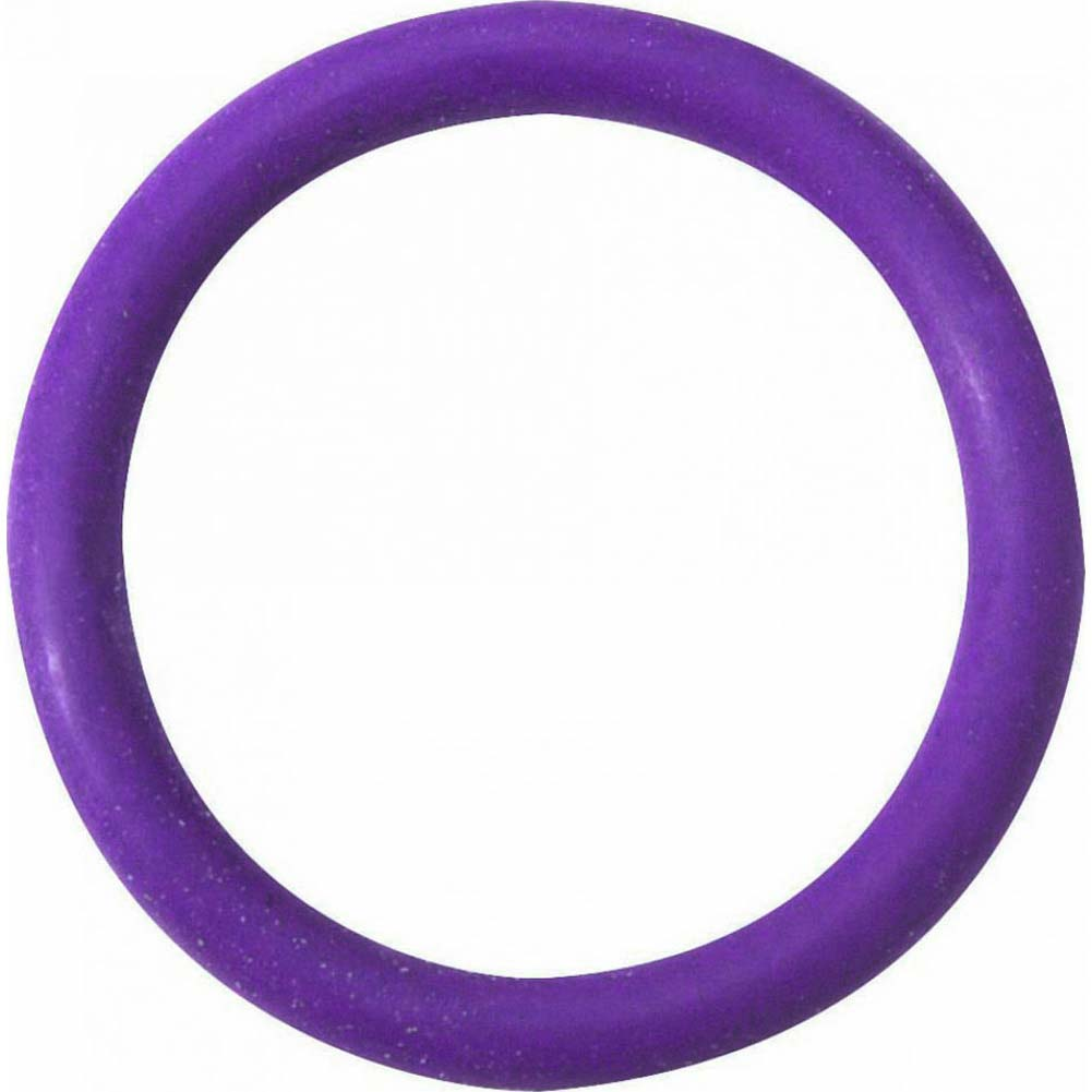"Spartacus Soft Rubber Cockring 1.5"" Purple - View #2"