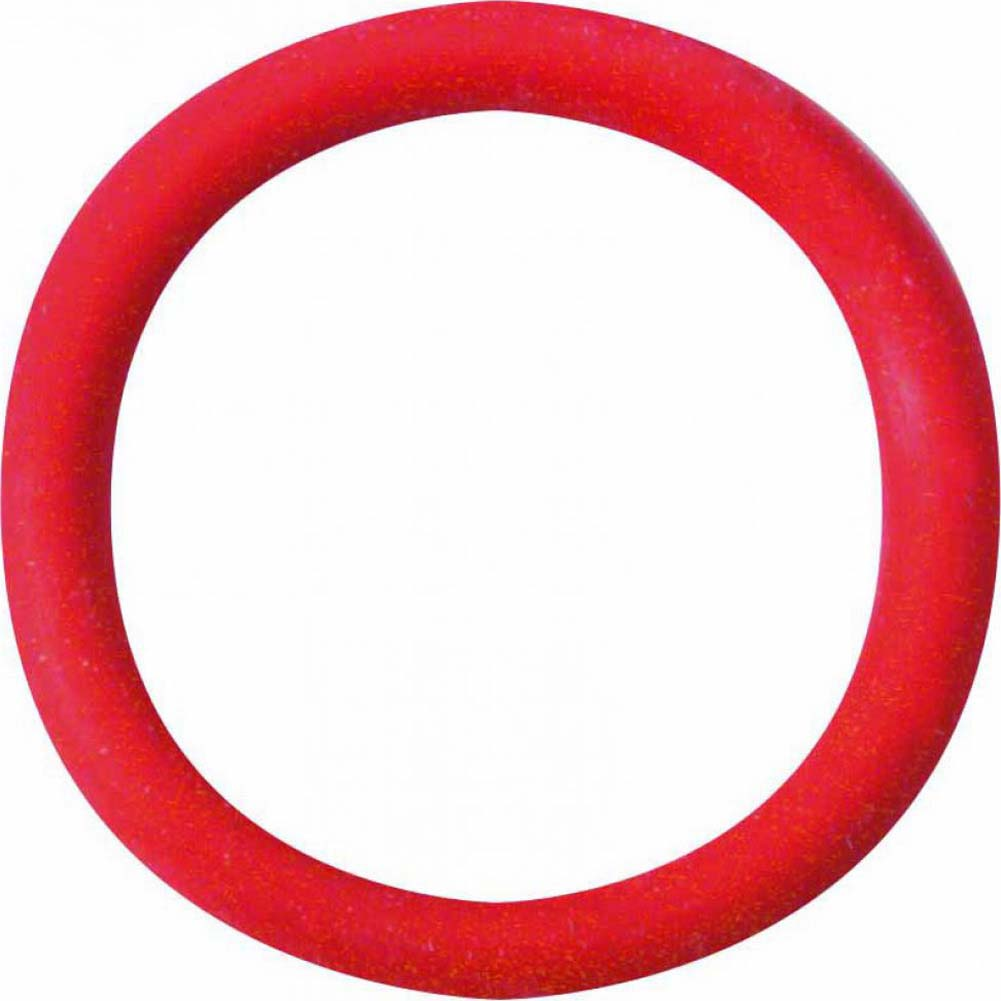 "Spartacus Soft Rubber Cockring 1.25"" Red - View #2"