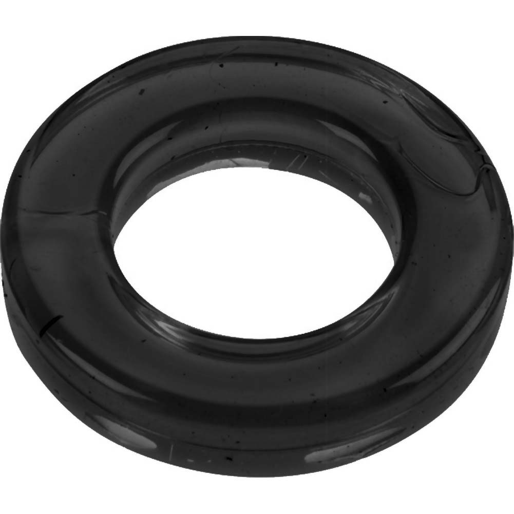 Spartacus Elastomer Cock Ring Black - View #2
