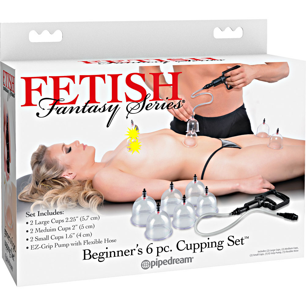 Pipedreams Fetish Fantasy Series Beginners 6 Piece Cupping Set Black - View #4