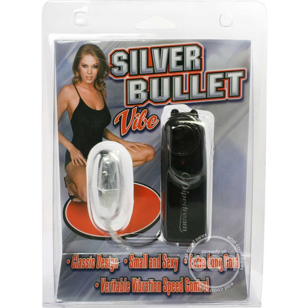 "Pipedream Silver Bullet Vibe 2"" Silver - View #1"