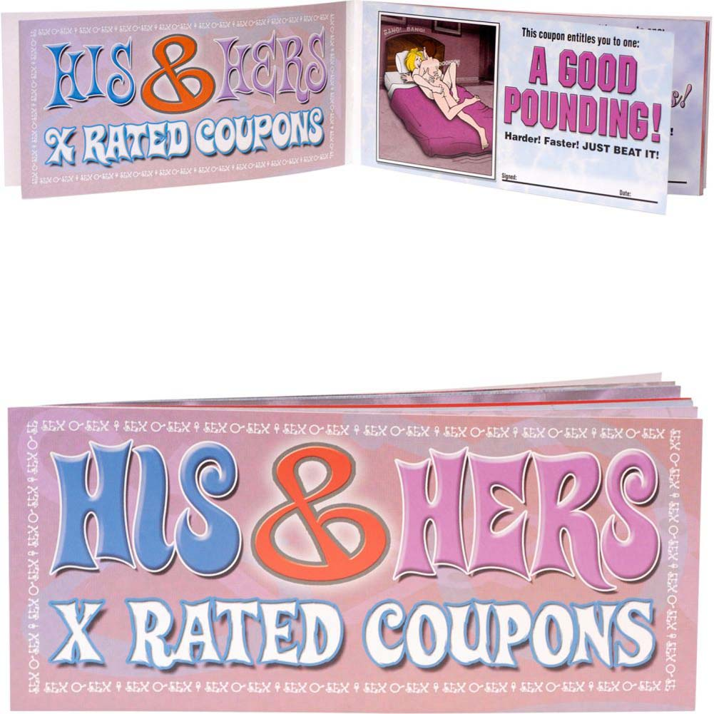 His and Hers X-Rated Coupons 36 Piece Display Case - View #1