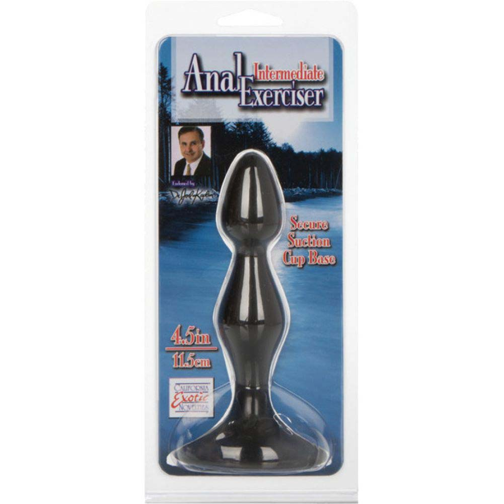 "California Exotics Dr Joel Intermediate Anal Exerciser Probe 4.5"" Black - View #1"