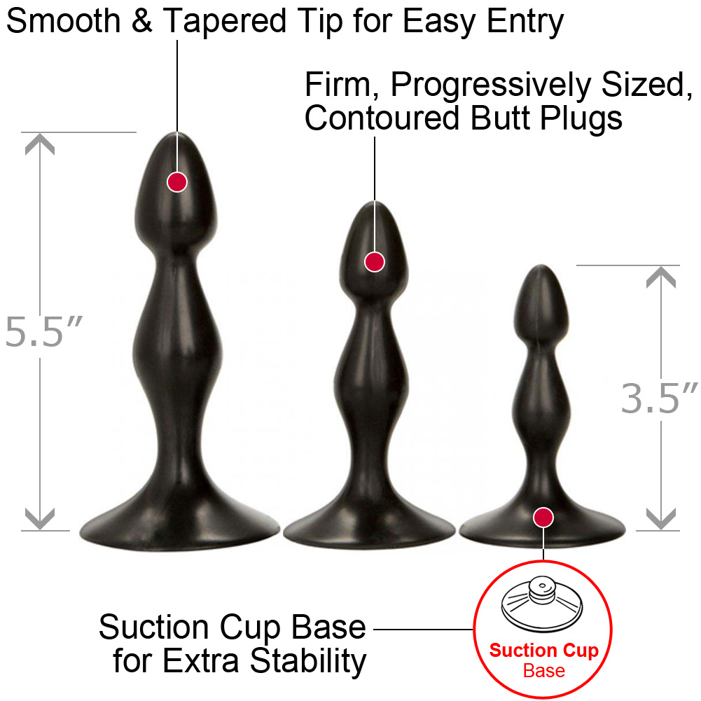 Dr Joel Anal Exerciser Kit Set of 3 Black - View #1
