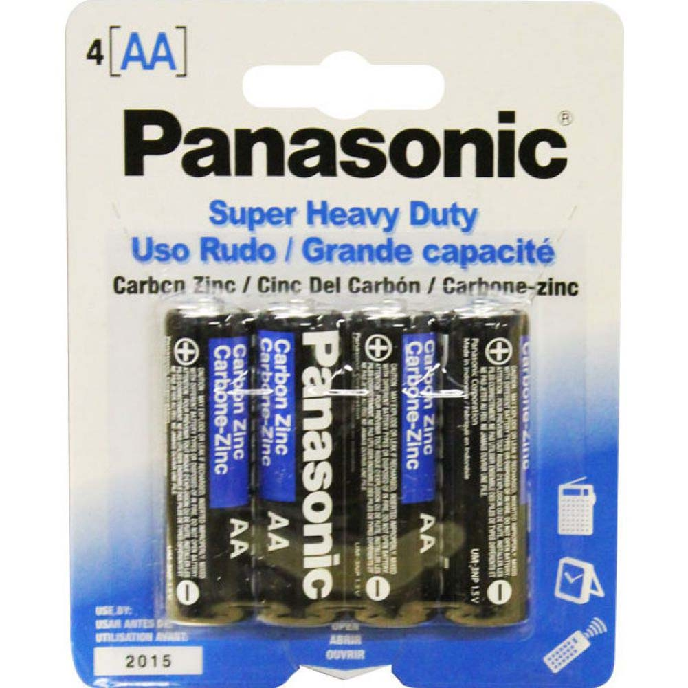 Panasonic Super Heavy Duty AA Batteries Pack of 4 - View #1