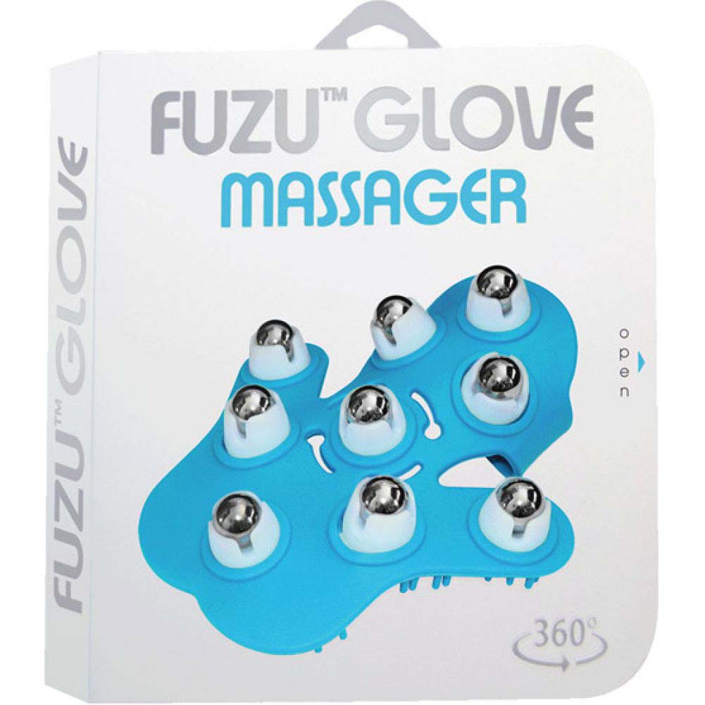 Fuzu Glove Roller Body Massager for Stress Relief Neon Blue - View #4