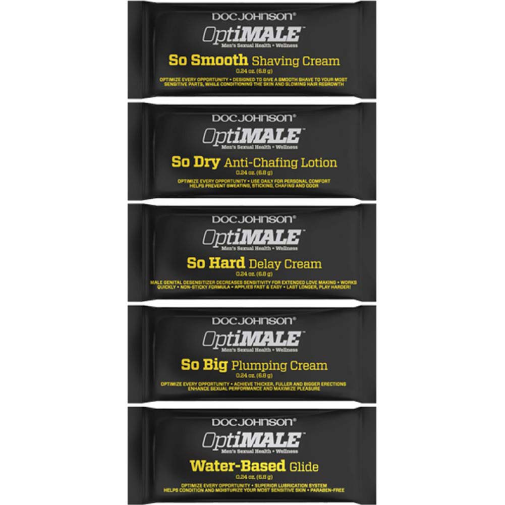 Doc Johnson Optimale Intimate Lube Samples for Men 120 Pieces 0.24 Oz Fishbowl Display - View #1