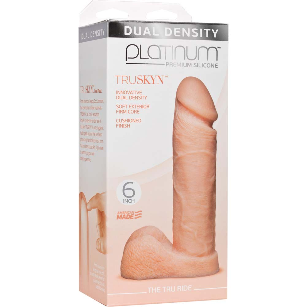 "Doc Johnson Platinum TRUSKYN Tru Ride Dildo 6"" Vanilla - View #1"
