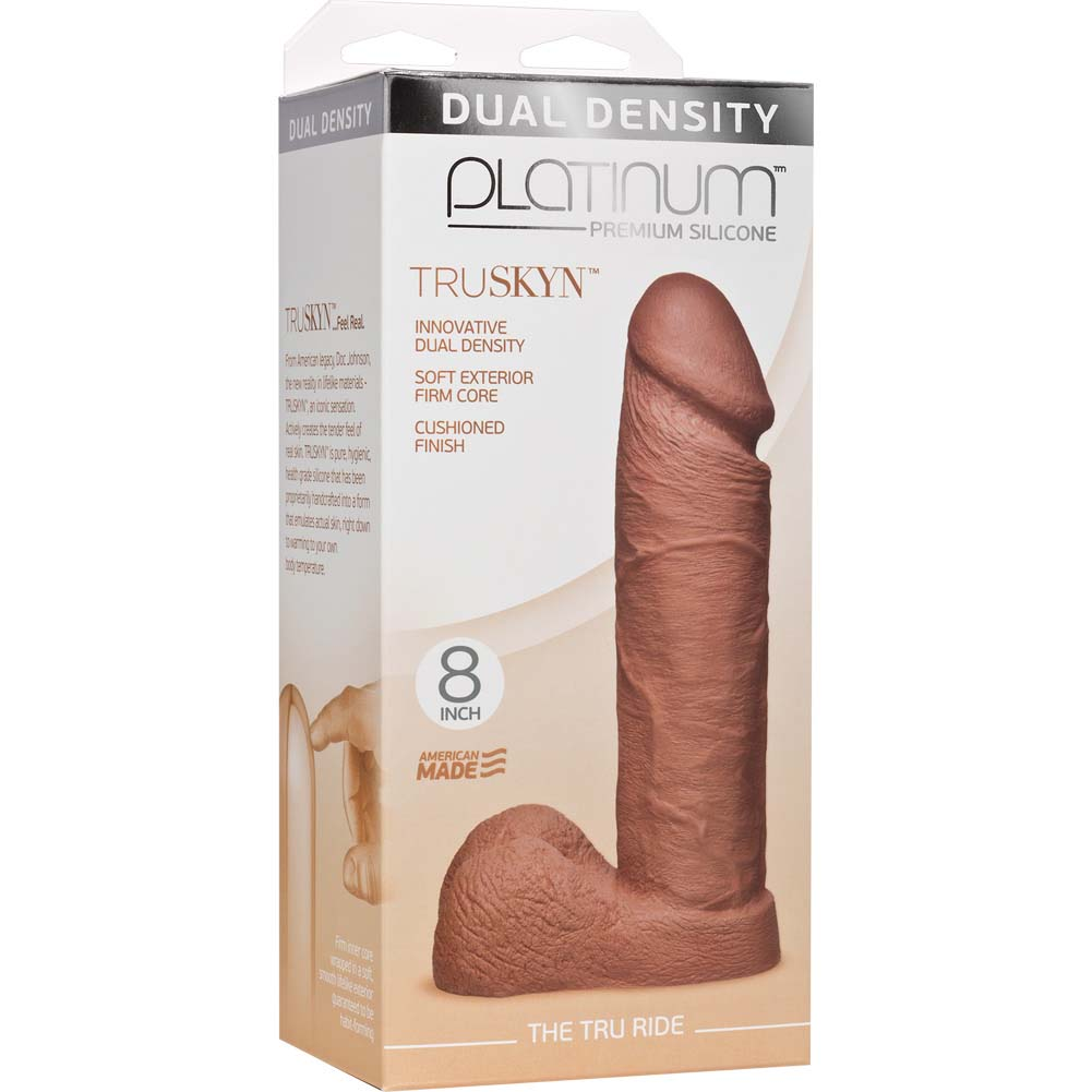 "Doc Johnson Platinum Truskyn Tru Ride Dildo 8"" Caramel - View #1"