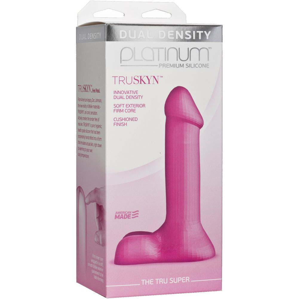 "Doc Johnson Platinum the Tru Super Dildo 7"" Pink - View #1"