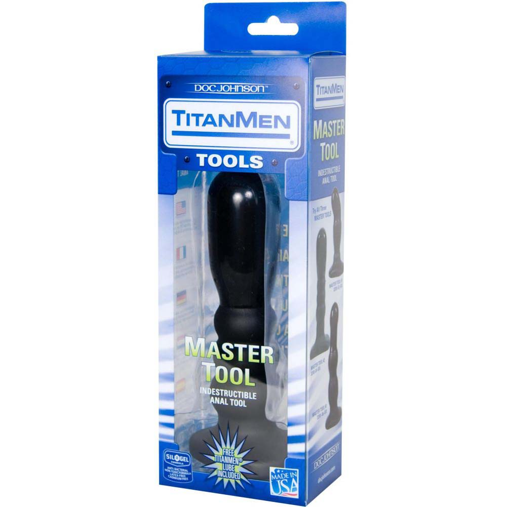 "Titanmen Master Tool Number 2 Butt Plug 7"" Black - View #3"
