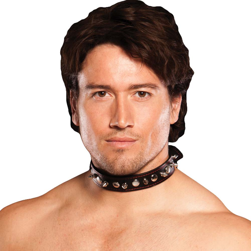Xplay Spiked Collar Black - View #2