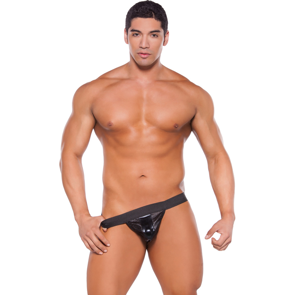 Zeus Wet Look Brief Black One Size - View #3