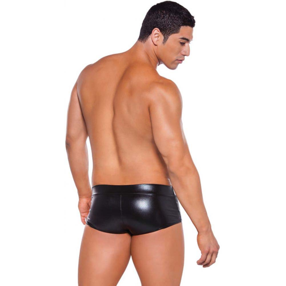 Zeus Wet Look Shorts Black One Size - View #4