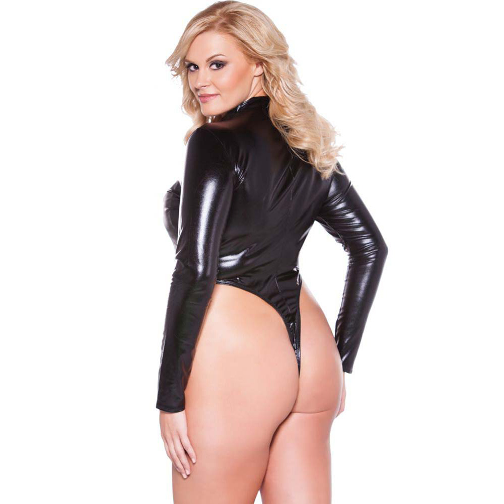 Naughty Kitten Bodysuit Black Queen Size - View #2